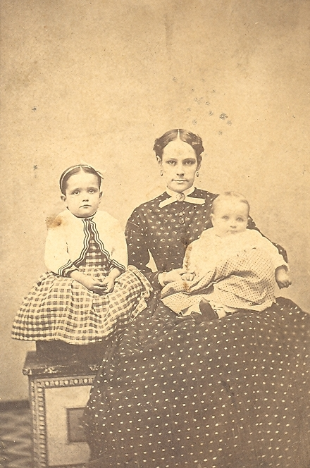Kate [Irwin] Rankin with daughter Elizabeth and son Henry